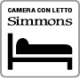 Camera con letto Simmons IT