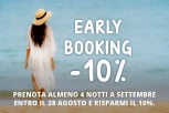 Prenota e risparmia con l'offerta Early Booking!